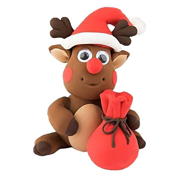 Create this cute Reindeer, from the Christmas Funny Friends range, out of air drying Silk Clay® using the simple picture instructions.  These kits are great fun for children and include everything you need.