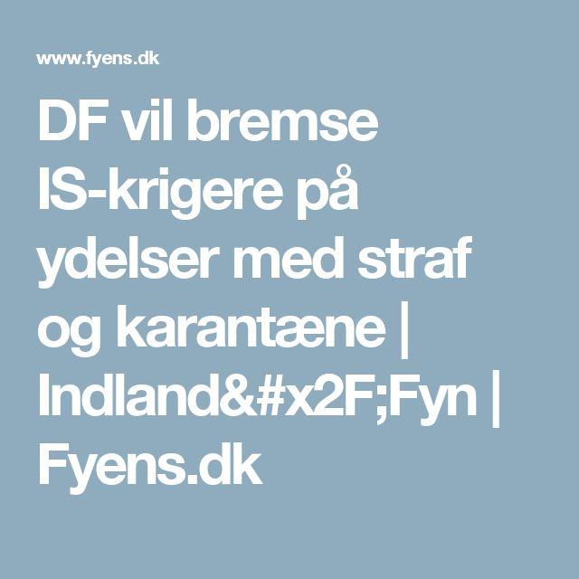 DF vil bremse IS-krigere på ydelser med straf og karantæne | Indland/Fyn | Fyens.dk