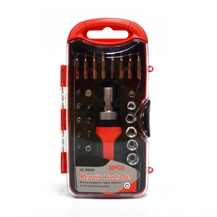 30pcs High Quality Car Repair Kit Motorcycle Repair Tool Ratchet Wrench Set Power Wrench Combination Sleeve Set