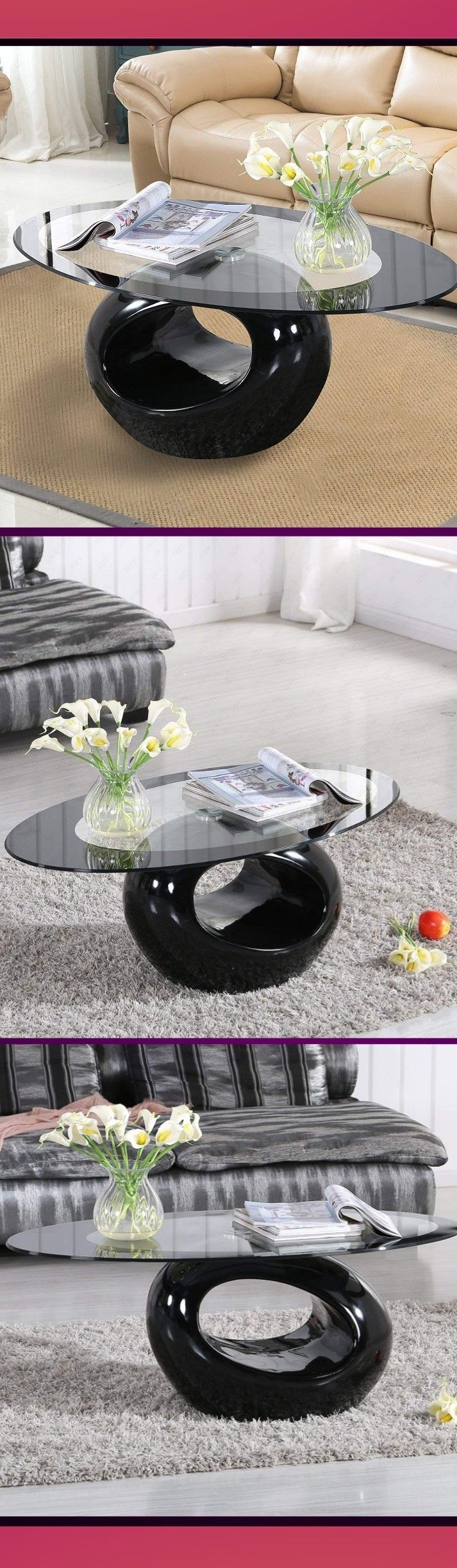 Dern End Side Coffee Table For Home Living Room Furniture Oval Glass Coffee Table Home Living Room Side Coffee Table [ 2449 x 713 Pixel ]