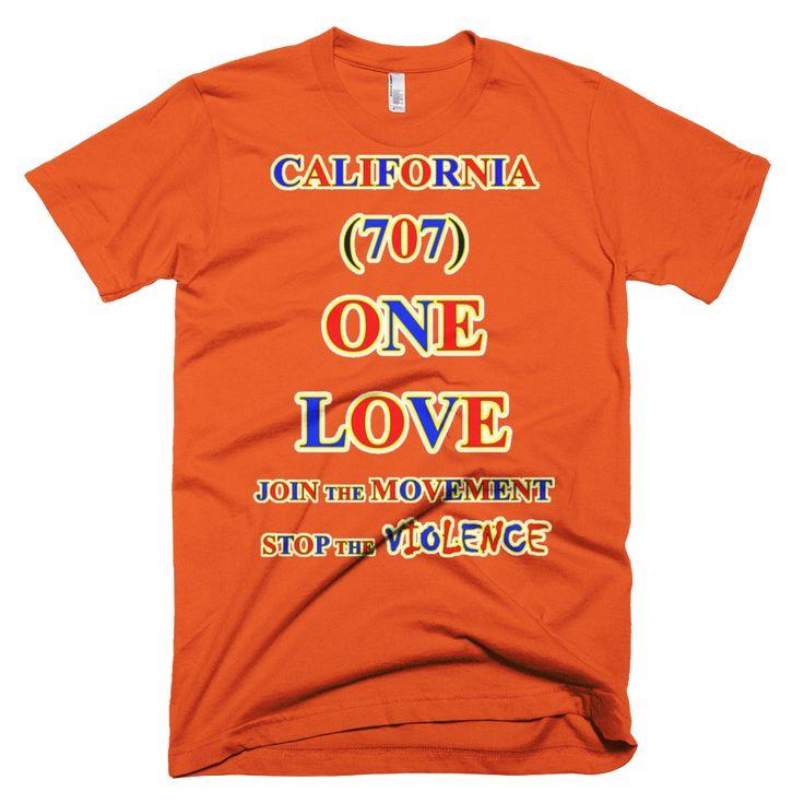 1093-T ... CALIFORNIA ... Area Code 707 ... ONE LOVE ... T-SHIRT