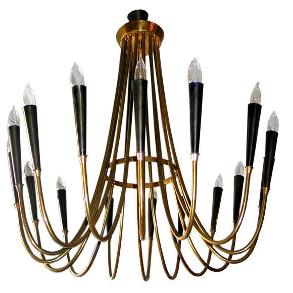 Italian Chandelier Attributed to Guglielmo Ulrich | From a unique collection of antique and modern chandeliers and pendants at http://www.1stdibs.com/furniture/lighting/chandeliers-pendant-lights/