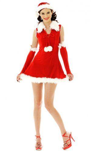 Femenino Traje de Papá Noel