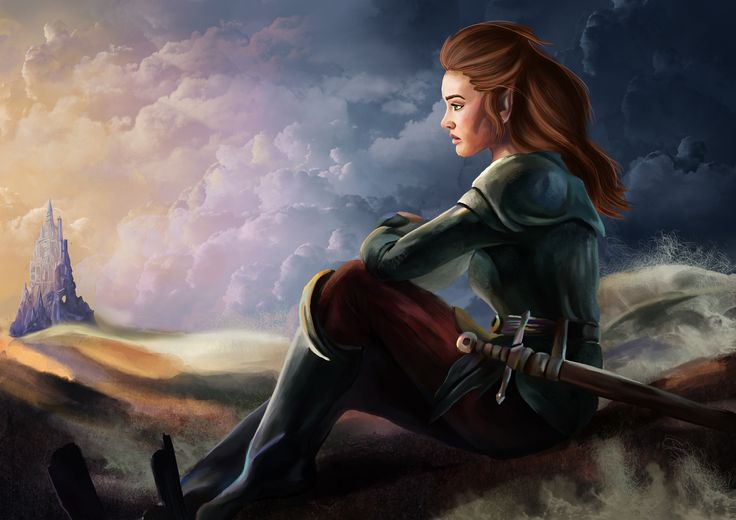 """Concept art for fantasy book series """"Upadek"""". One of the main character Wiosna."""