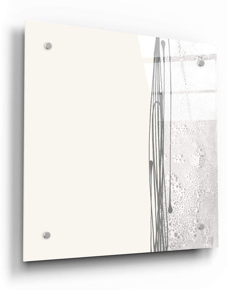 Eglomise Wevet white mirror 02