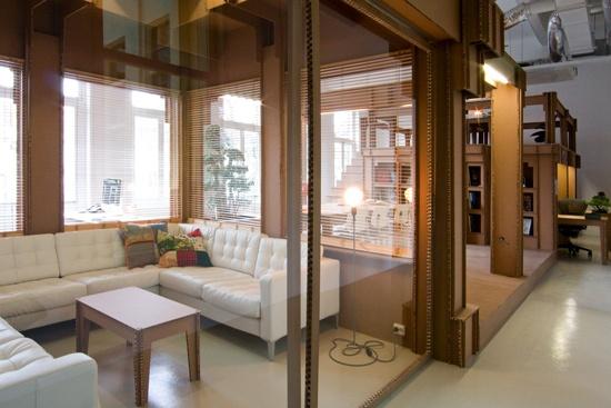 cardboard livingroom