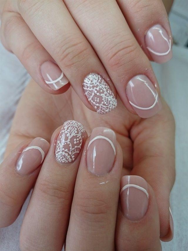 Bridal Acrylic Nails Designs