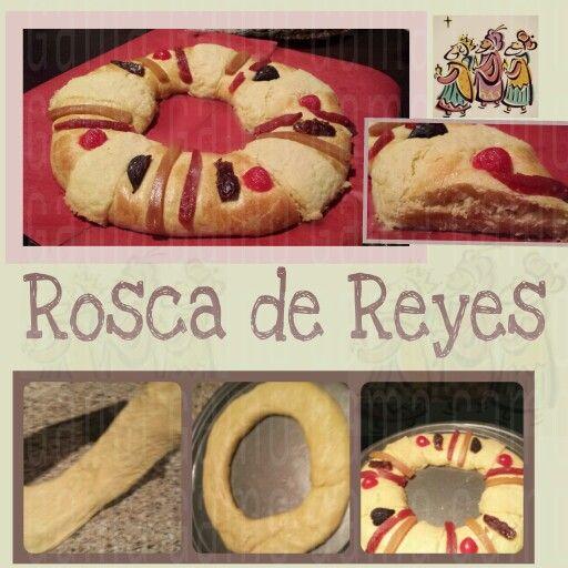 Mi Rosca de Reyes con Harina de Fuerza  -Gama Gamo     De esta receta salen dos roscas del tamaño como en la foto   INGREDIENTES....  ●500 gr de harina de fuerza ('para Pan') cernida  ●100 gr de azúcar (1/2 taza)  ● 15 gr levadura en polvo (son un poquitín más de 2 cdas)  ●150 ml de Agua (tibia)  ●25 gr de Leche en Polvo (poco menos de 1/4 taza)  ●4 huevos batidos (temp ambiente)  ● 10 gr de sal (poco menos de una cucharada)  ●Ralladura de una naranja y 2 cdas de extracto de naranja.  ●130…