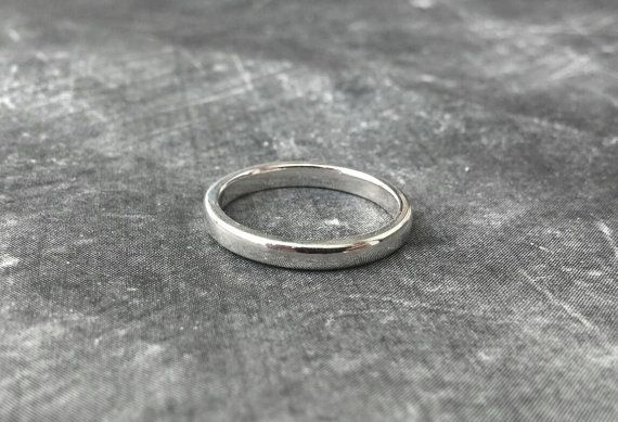 Handmade Sterling Silver Ring Band  Simple by HindorfJewellery