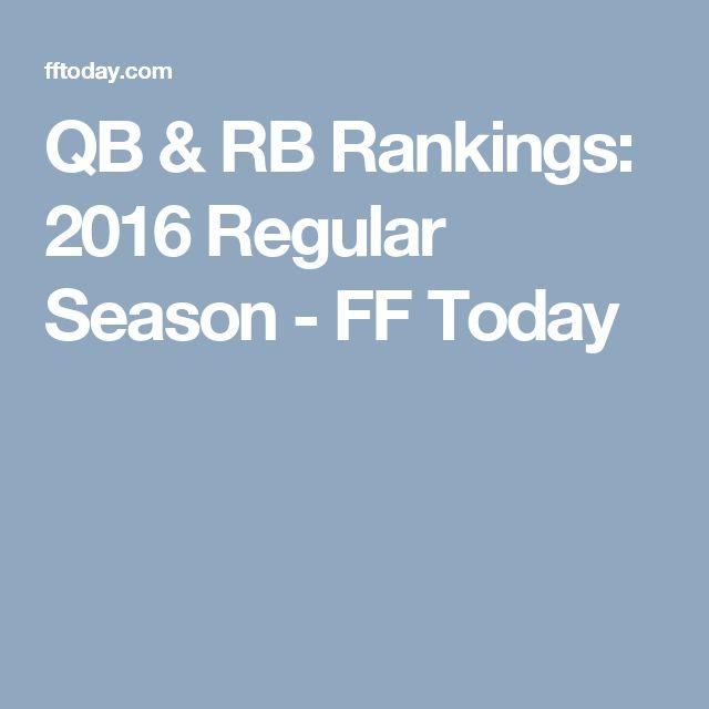 QB & RB Rankings: 2016 Regular Season - FF Today
