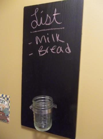 Chalkboard mason jar to do list