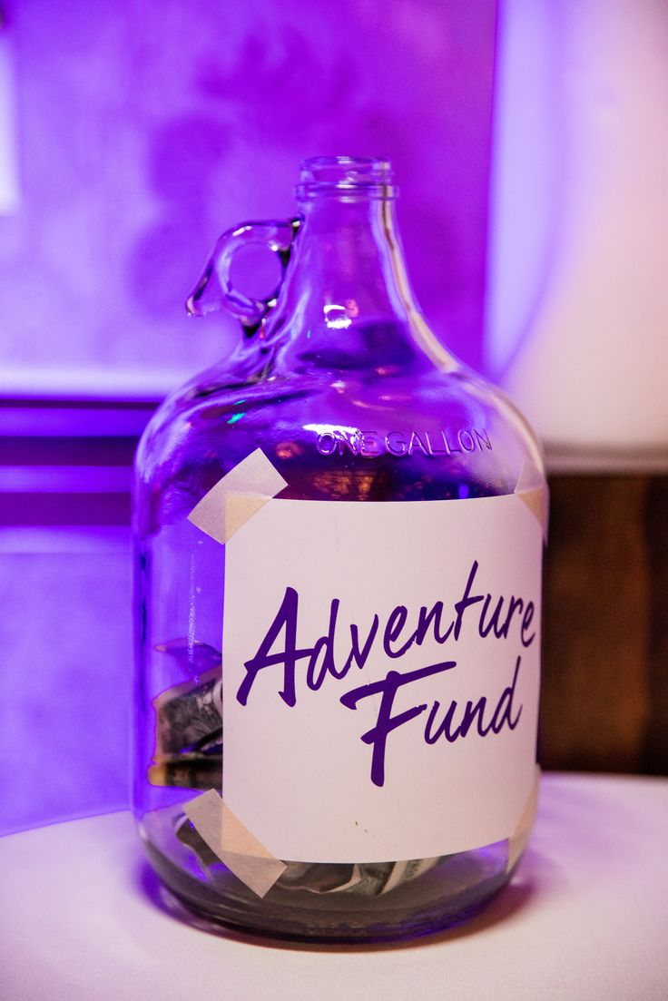 This Disneyland couple had an Adventure Fund at their reception inspired by Up!  Still haven't seen up, but this is a great idea anyway