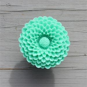 Flower Drawer Knobs   Cabinet Knobs Mum In Adam Green LARGE, More COLORS  Add A Touch Of Nature To Any Room With These Cute Chrysanthemum Drawer