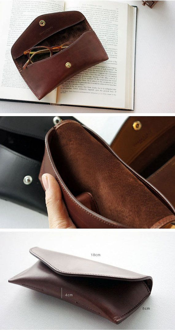 Handmade Vegetable leather Spectacle case Glasses by dextannery