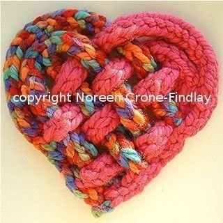 Woven Spool knitted Heart designed by Noreen by NCroneFindlay, $5.00