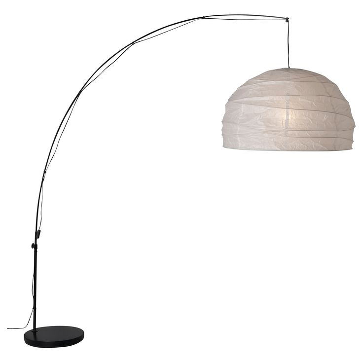 IKEA - REGOLIT, Floor lamp with LED bulb, Can be hung over your coffee table, for example, by connecting to a standard wall outlet.You can adjust the length of the bow as needed.
