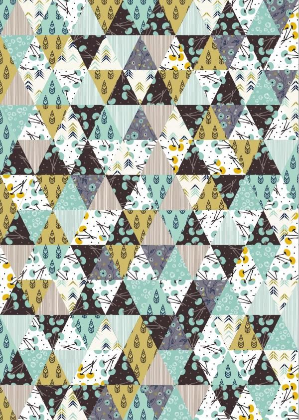 """Diamond Affair"" Modern Geometric Baby Quilt in Green, Black and Teal"