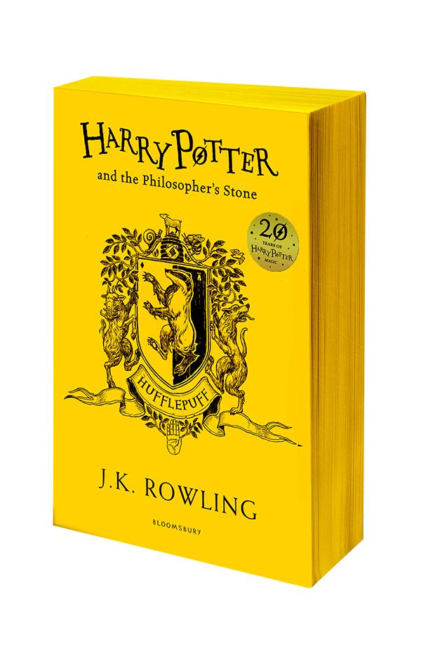Harry Potter | House Editions: Hufflepuff paperback. Exclusive Gryffindor house edition to celebrate the 20th Anniversary of the first publication of Harry Potter and the Philosopher's Stone.