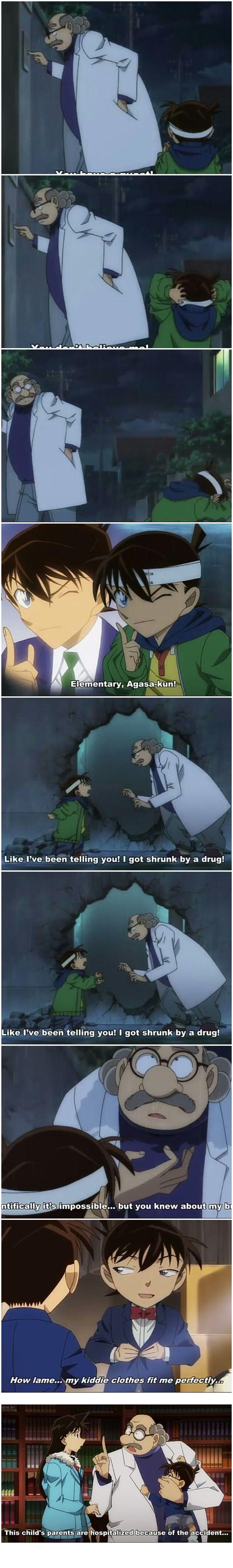 Shinichi, explaining his situation
