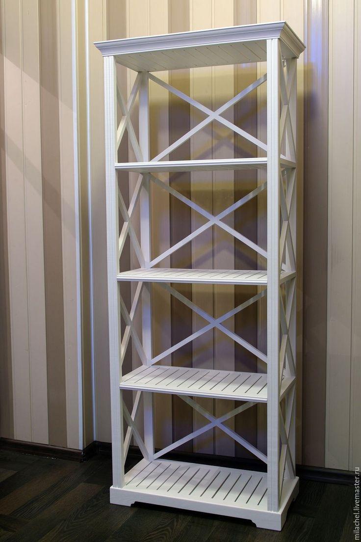 """Купить Стеллаж """" Entratges"""" - стеллаж, этажерка, прованс, прованский стиль, белый, массив сосны"""