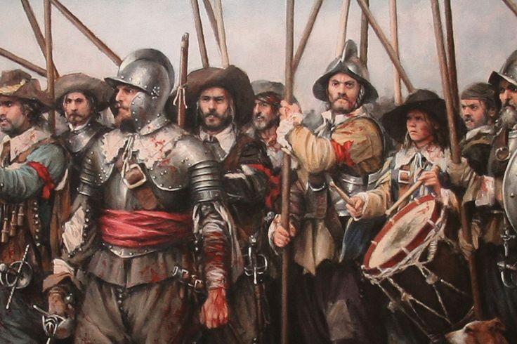 Augusto Ferrer-Dalmau - Soldados de los Tercios en la batalla de Rocroi, 1643
