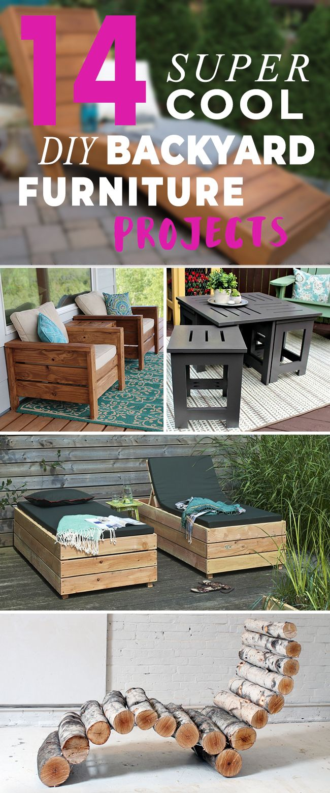 14 super cool diy backyard furniture projects pinterest backyard