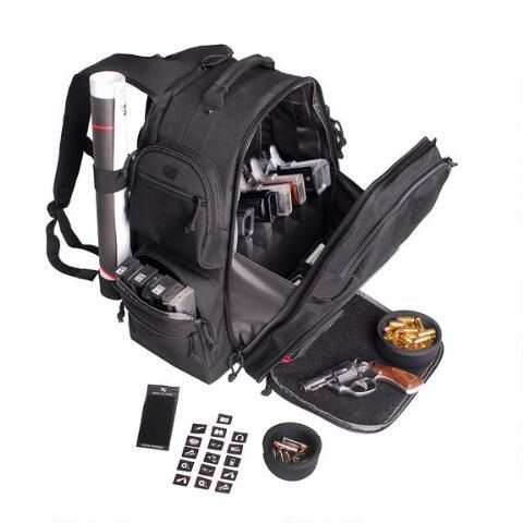 G-Outdoors The Executive Backpack. Fits five handguns, target holder and room for magazines. Perfect range bag! $127.73