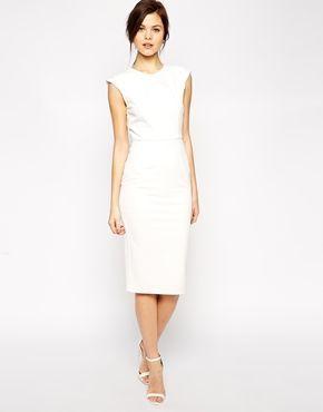 Pencil Dress with Structured Fold Sleeve – #dress #Fold #pencil #Sleeve #structu…