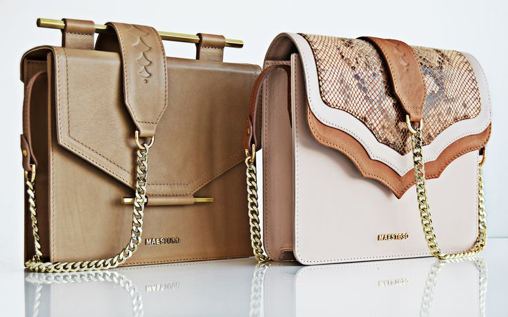 Nude leather bags.