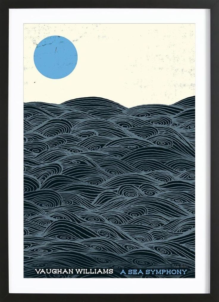 Vaughan Williams - Sea Symphony VON Prelude Posters now on JUNIQE!