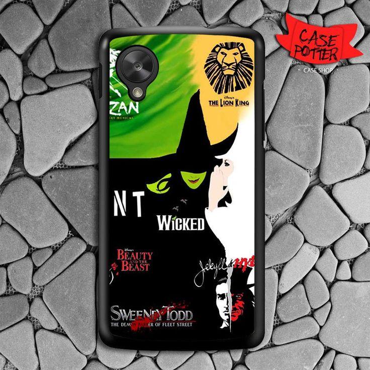 Broadway Musical Collage Nexus 5 Black Case