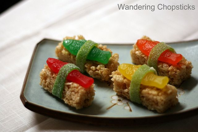 Dessert Sushi with Swedish Fish Candy and Rice Krispies ...