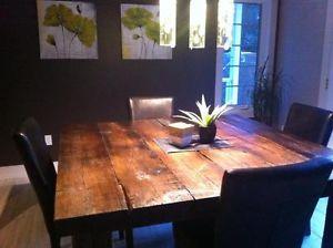 Table en bois de grange plus de 40 mod les disponibles west island greater m - Table de cuisine ronde en bois ...