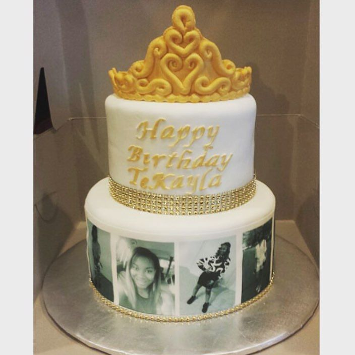 Crown Cake From Cakelady706 With Edible Images Wrapped
