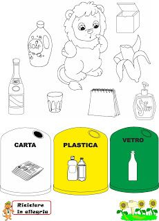 Schede Didattiche Riciclo Recycling Theme Education Recycling