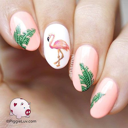 25 Flamingo Nails Designs – Nageldesign & Nailart
