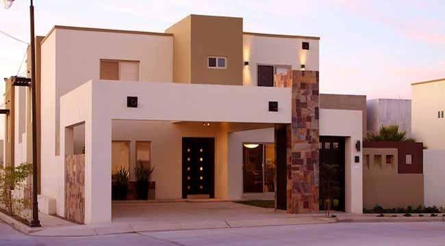 Excelentes Fachadas De Casas Modernas De Dos Pisos Pequeñas ...