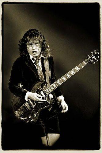 Angus Young guitarist Australian band AC/DC