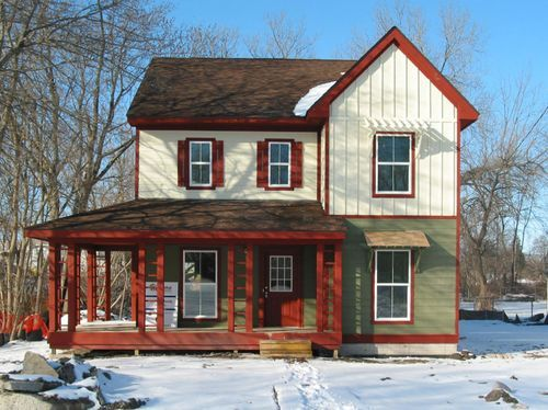 5 bedroom affordable, efficient house plans -- habitat for humanity design winner