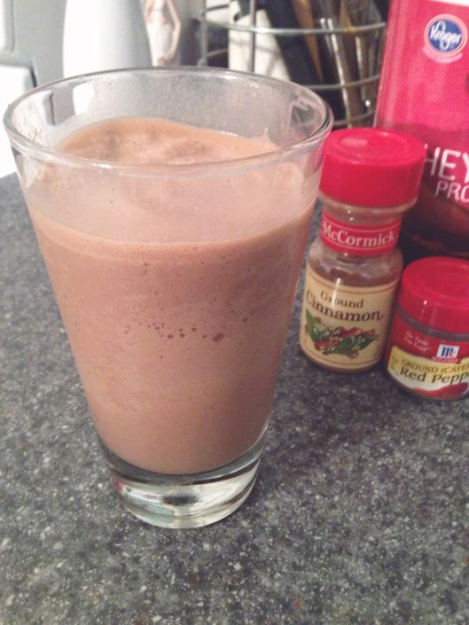 Frozen Mexican Hot Chocolate Protein Shake
