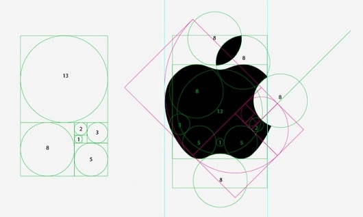 golden ration, apple logo