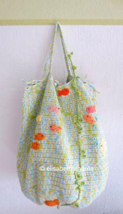 Fish tote storage bag by elisabeth andrée
