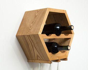 Estante del vino del complemento listado vidrio por HaaseHandcraft