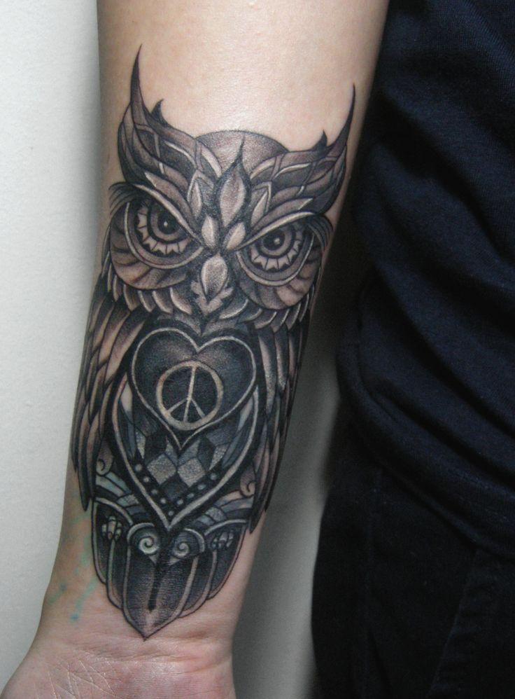 Owl tattoo coverup tattoo animal tattoo  RedGrey Art Gallery  Pinterest  Tattoo animal