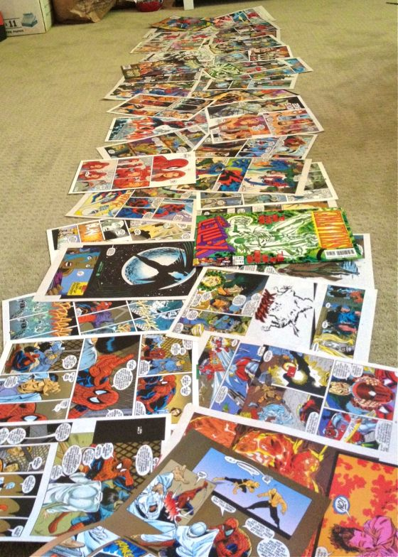 DIY Comic Book Page Table Runner www.homesweetlifeblog.com