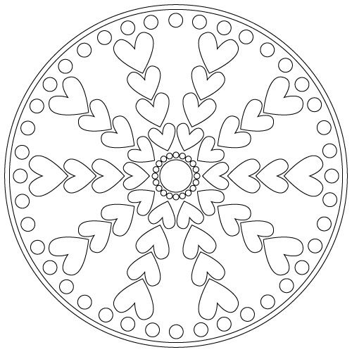 Valentine Mandalas