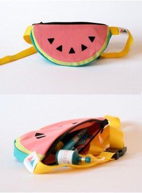 Merrimaking Watermelon Bumbag. Buy @ http://thehubmarketplace.com/watermelon-melon-tropical-pastel-bumbag-bag-festival-fun-fruity