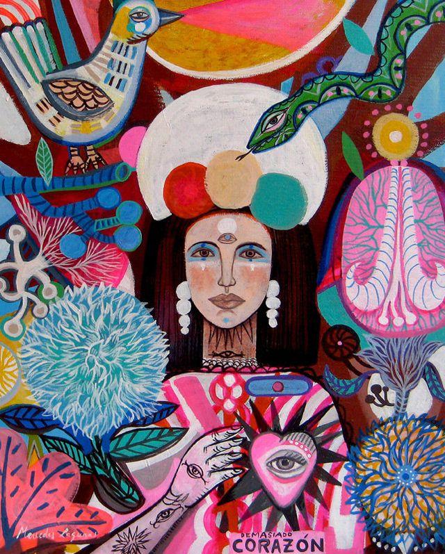 Boho Garden by Spanish Artist Mercedes Lagunas