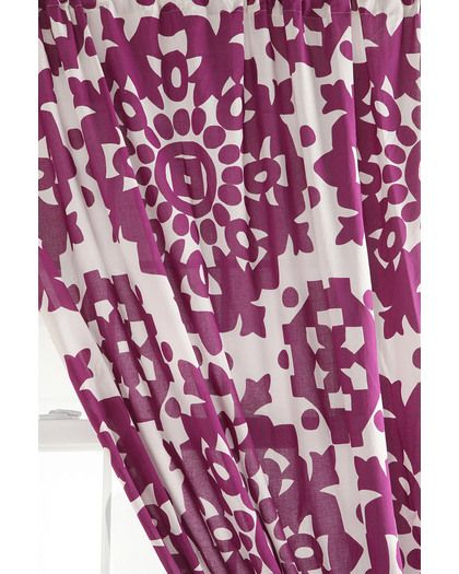 Plum Medallion Curtain