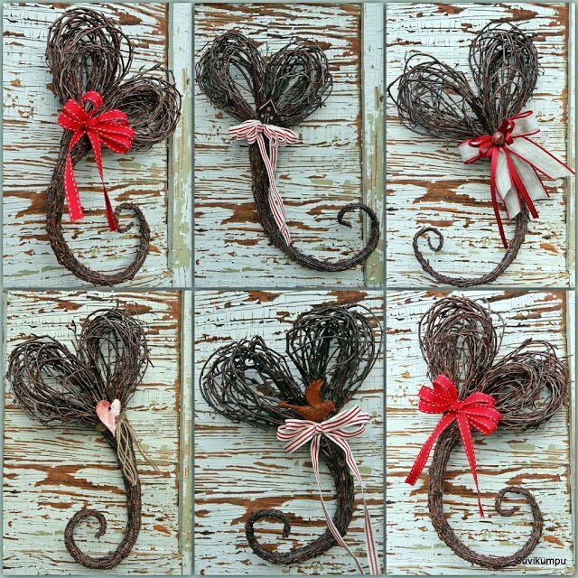 Suvikumpu: Risusydämen ohje II heart wreath, branch wreath